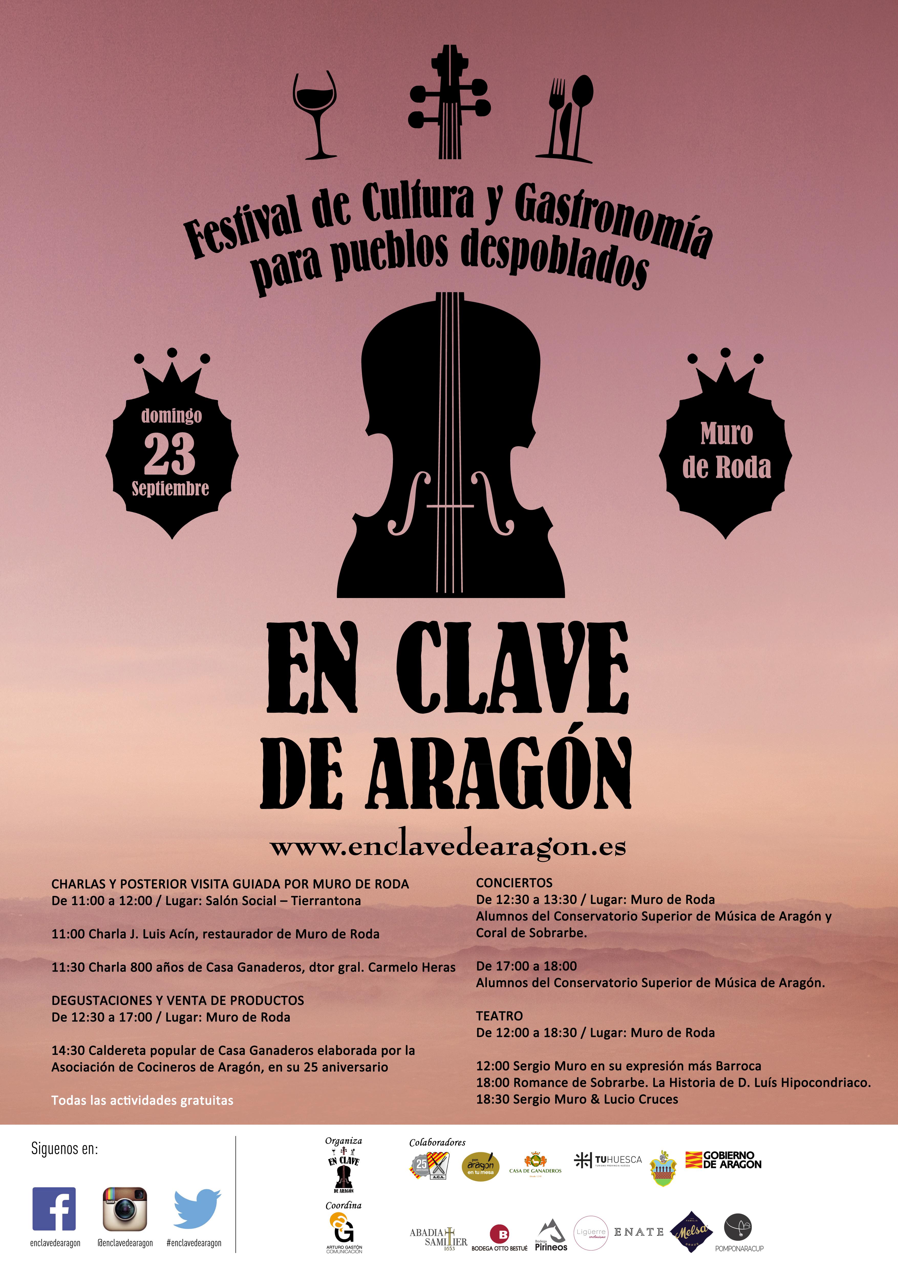 El 23 de Septiembre se celebra la II Edición del Festival En Clave de Aragón en Muro de Roda.
