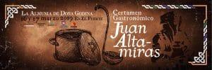 Certamen Gastronómico Juan Altamiras los días 16 y 17 de marzo en la Almunia