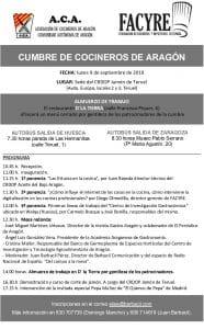 Programa de la Cumbre de Cocineros en la Sede del CRDOP Jamón de Teruel