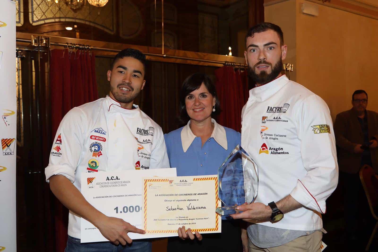 """Ganadores del XVII Certamen de Cocina y Repostería de Aragón """"LORENZO ACÍN"""""""