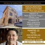 El espacio gastronómico EntreViñedos abre sus puertas de la mano del chef Alberto Ferruz.