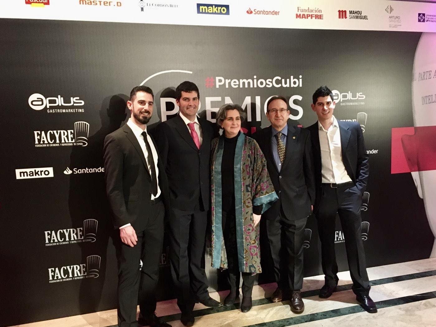 La Asociación de Cocineros de Aragón muy presente en la IV Edición de los Premios Cubí de Facyre