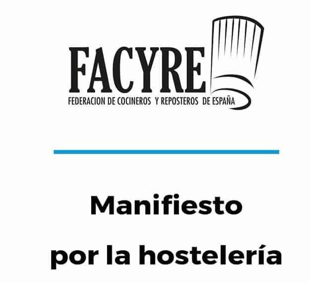 Manifiesto del sector de la hostelería ante el Congreso