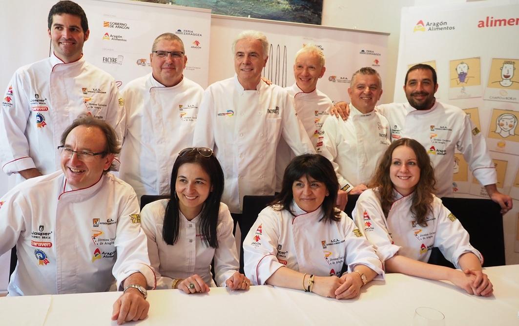 Selección de cocineros aragoneses que competirán en el XVI Certamen de Cocina y Repostería de Aragón