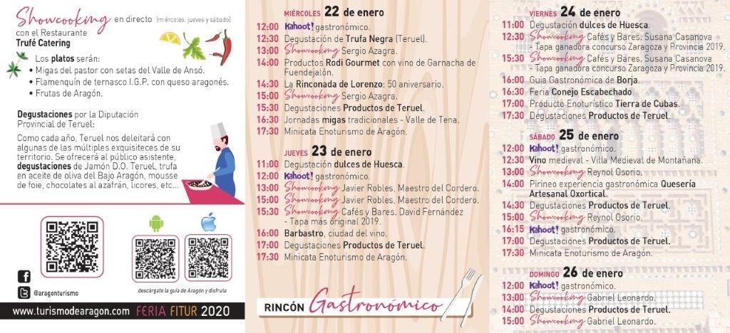 Aragón apuesta en FITUR 2020 por turismo sostenible, nieve, gastronomía e innovación