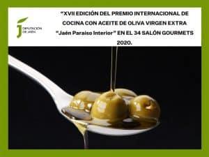 Convocatoria del Premio Internacional de Cocina con Aceite de Oliva Virgen Extra 'Jaén Paraíso Interior' 2020